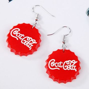 ES345 Hyperbole Drop Earrings Bottle Cap Fashion Jewelry boucle d'oreille Women Dangle Steampunk Brincos American & European