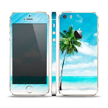 The Paradise Beach Palm Tree Skin Set for the Apple iPhone 5s