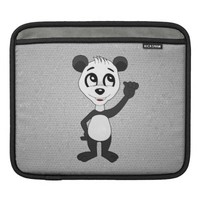 iPad sleeve with panda bear cartoon