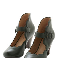 Miz Mooz Vintage Inspired Day Train Heel in Pine