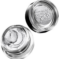 Maybelline New York Eye Studio Color Tattoo Metal 24 Hour Cream Gel Eyeshadow, Silver Strike, 0.14 Ounce