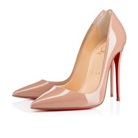 Sale Christian Louboutin Cl So Kate Nude Patent Leather 120mm Stiletto Heel Fw13
