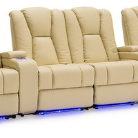 Seatcraft Seatcraft Serenity Theater Seats - Vanilla, Leather - Theater Seating | Houzz