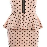 Peppered Peplum Dress | Pink Printed Dresses | Rickety Rack