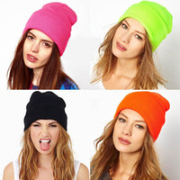 28 Colors!  Neon Knitted  Winter Hat Autumn Sport Beanie UNISEX Warm Casual Cap