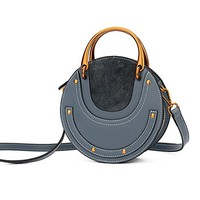 Ainifeel New Arrival Women's Genuine Leather Fashion Small Metal Handle On Clearance