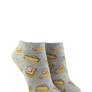 Grilled Cheese Graphic Ankle Socks