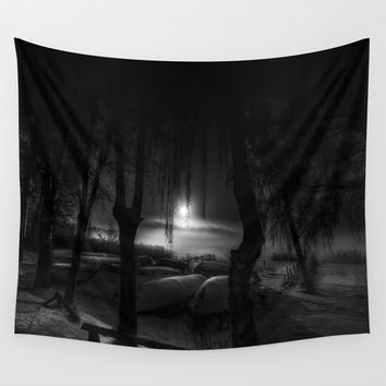 Night of the living dead fishermen Wall Tapestry by HappyMelvin