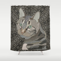 What are you looking at? Shower Curtain by ArtLovePassion