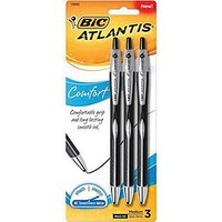 BIC® Medium Ballpoint Pen, 1.2mm, Black, 3/Pack (VCGCP31BLK) | Staples