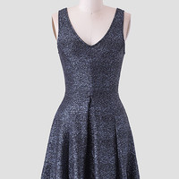 Dancing Beneath The Stars Metallic Dress