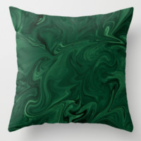 Modern Cotemporary Emerald Green Abstract by Sheila Wenzel
