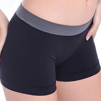 Women Safety Leggins Female Short Pants Summer Silk Mid Waist Sexy Solid Breathable Boyshorts Panties For Ladies Boxer #YL10