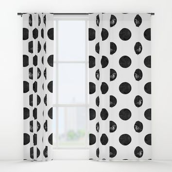 Polkadot Perch Window Curtains by MidnightCoffee