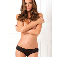 Rene Rofe Black Magic Crotchless Open Back Panty Black S-m