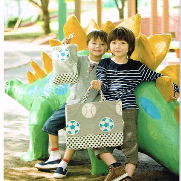 Kawaii School Bag & Supply Item for Toddler Boys - Japanese Easy Sewing Pattern Book for Kids Children - Bag, Case - Chiharu Okuyama - B1312