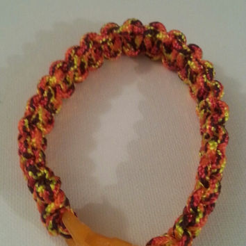 Fireball paracord parachute cord 550/325 bracelet with survival buckle or regular buckle
