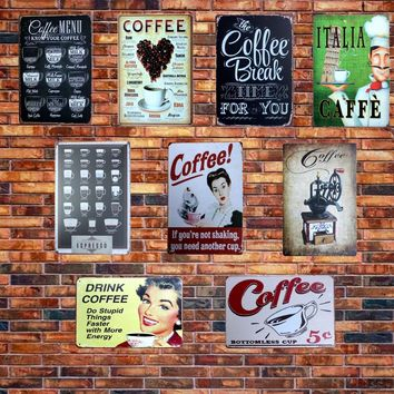 [ Mike86 ] CAFE MENU KNOW YOUR COFFEE TIN SIGN Old Wall Metal Painting ART Decor AA-230 Mix order 20*30 CM