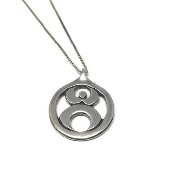 Fertility Necklace Modernist Sterling Silver Necklace, Fertility Symbol, Symbol of Motherhood, Gift for Mother, Pregnant Woman Gift