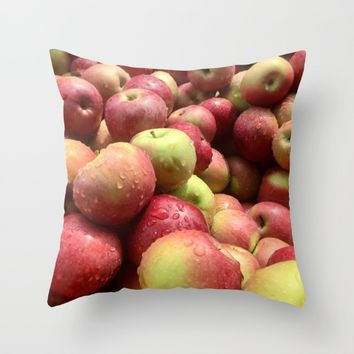 Apples Throw Pillow by UMe Images