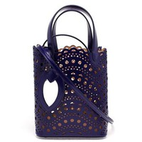 AZZEDINE ALAÏA | Laser Cut Mini Bucket Bag | brownsfashion.com | The Finest Edit of Luxury Fashion | Clothes, Shoes, Bags and Accessories for Men & Women