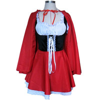 Material Object Photo-Plus Size 4XL Costume Adult Little Red Riding Hood Costume