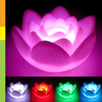 MYLB Color Changing LED Lotus Flower Romantic Love Mood Lamp Night Light Wedding Favor Decoration