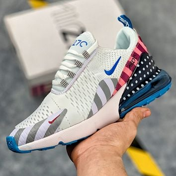 Nike Air Max 270 Flyknit Air cushion jogging shoes