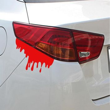 14*5cm Car Styling Funny Car Stickers and Decals Bloody Auto Tail Decor Novelty Vinyl Motorcycle Accessories