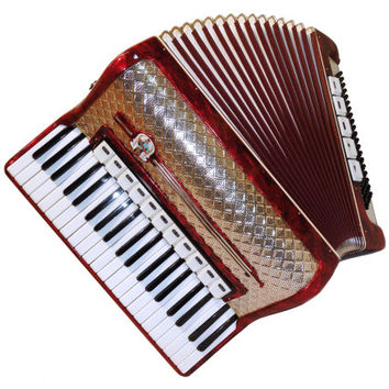 Great German Piano Accordion Weltmeister, 120 Bass 11 + 5 Switches, Case, Musical Instrument, 342