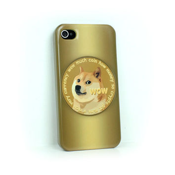 Wow Dogecoin, iphone 4 case, iphone 5 case