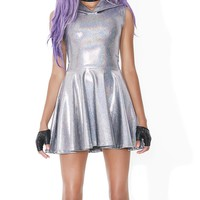 Mercury Rising Hooded Skater Dress