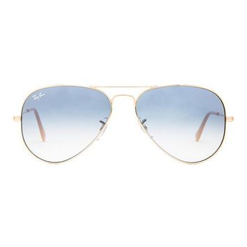 Ray-Ban Large Metal Aviator in Metallic Gold