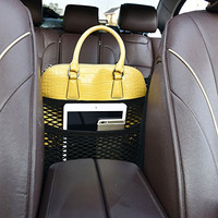High Elastic Car Storage Accessories Car Seat Mesh Storge Organizer/Bag Cargo Net Multilayer Design Universal Car Armrests Purse Storage Pouch