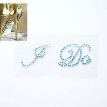 I Do Light Blue Shoe Stickers Wedding Bride Shoe Sticker dc59c3326