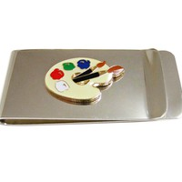 Detailed Art Palette Money Clip