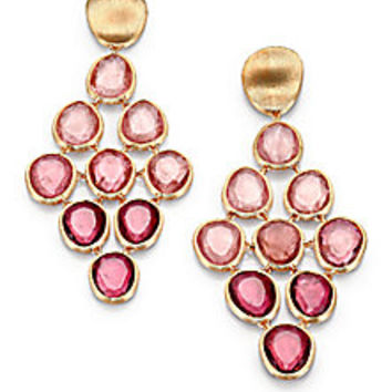 Marco Bicego - Lunaria Unico Pink Tourmaline & 18K Yellow Gold Drop Earrings - Saks Fifth Avenue Mobile
