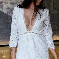 Amina Playsuit White