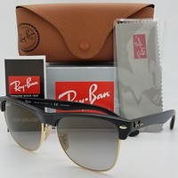 NEW Rayban Large Clubmaster sunglasses RB4175 877/M3 57mm Black Grey Polarized