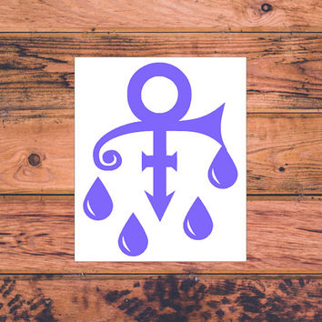 Purple Rain Prince Tribute Decal | In Memory Of Prince Decal | Prince Tribute Decal | RIP Prince Decal | Prince Memorial Decal | 320
