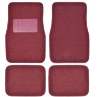 BDK Premium Heavy-Carpeted Floor Mats for Car, 4-Piece, Extra Carpet Cushion, Rubberized Backing