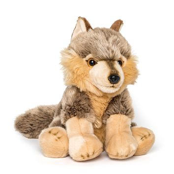 "12"" Stuffed Wolf Plush Floppy Animal Kingdom Collection"