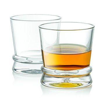 JoyJolt Afina Scotch Glasses Old Fashioned Whiskey Glasses 10Ounce Ultra Clear Whiskey Glass for Bourbon and Liquor Set Of 2 Glassware