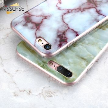 KISSCASE Marble Case For iPhone 6 6S iPhone7 7 Plus 5S 5 SE Soft Silicon Phone Cover For Samsung Galaxy S7 Edge S8 Plus S6  case