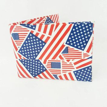 American Flag Bifold Wallet, Men's Billfold, Cool Wallets For Men