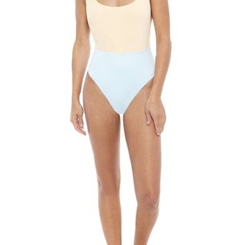 NYX Maillot Color Blocking One Piece - Peaches N Cream