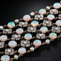 Belle Epoque Opal and Diamond Choker Necklace - Edwardian Jewelry - Shop for Jewelry