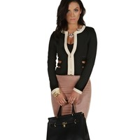 Black Contradiction Caged Blazer