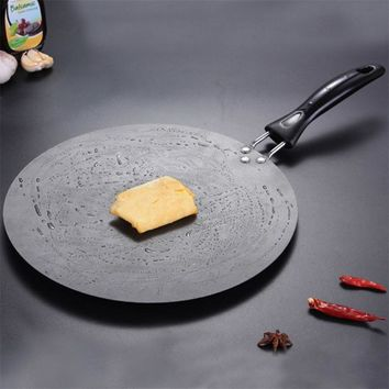 QueenTime 30cm Kitchen Griddle Pan Non-stick Grill Pans Cast Iron Omelet Crepe Pan Round Cookware For Induction And Gas Stove