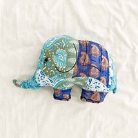 Magical Thinking Silk Sari Elephant Pillow